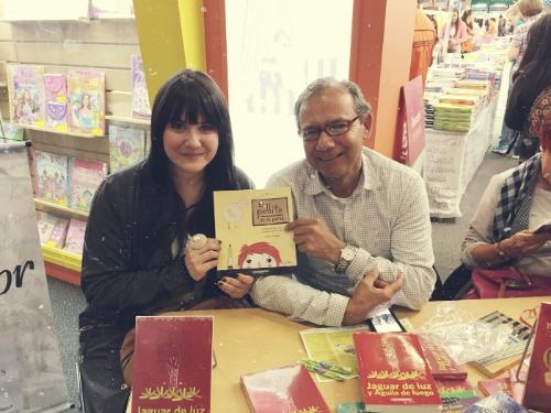 Sara Tomate (ilustradora) y Celso Román (Autor).
