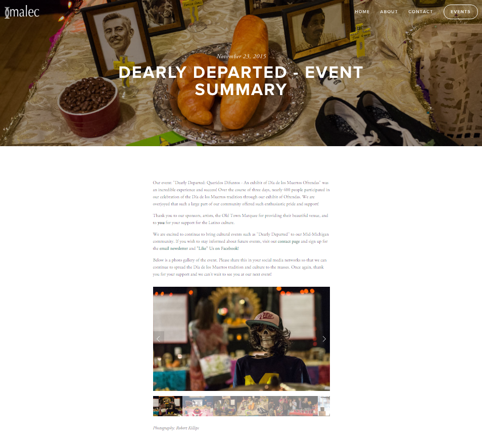 The event summary post. (http://www.malec-mi.org/news/2015/11/19/dearly-departed-event-summary)