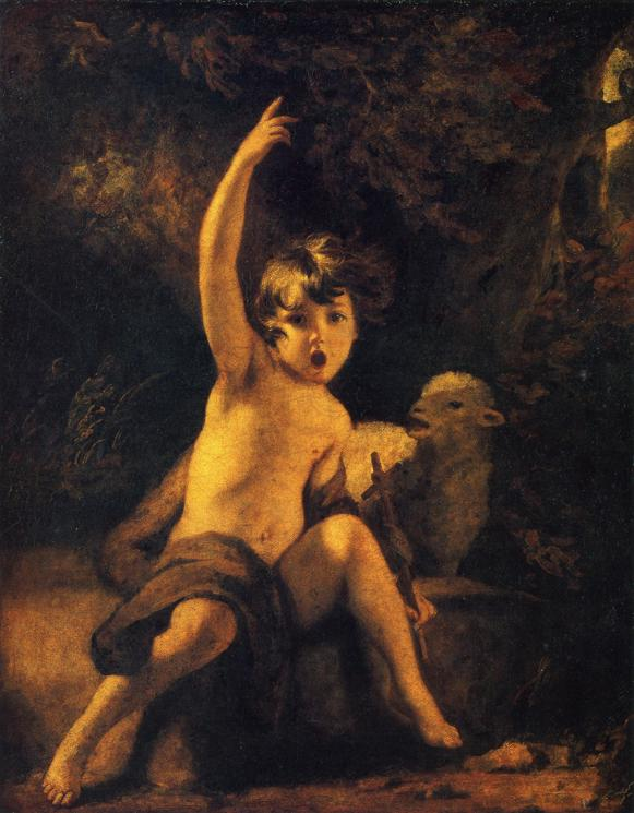 John the Baptist in the Wilderness by Joshua Reynolds