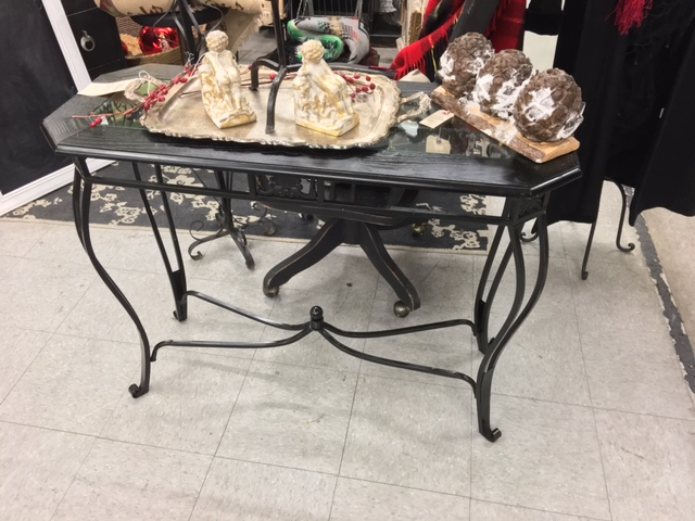 Glass top entry table. $54.99.