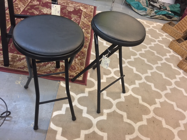 Black Folding Stools. $10.70 each.