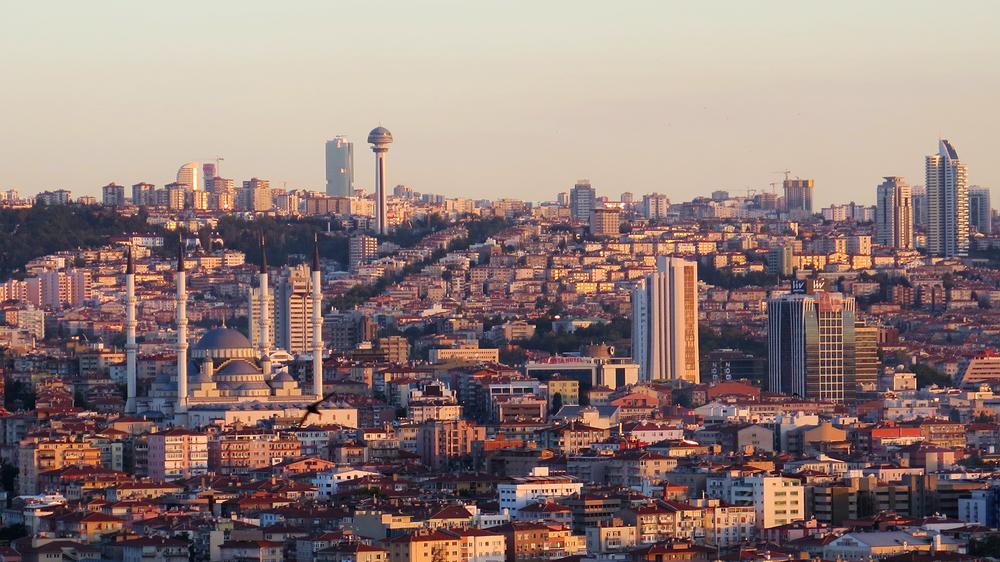 Safranhan Brasserie'den Ankara manzarası