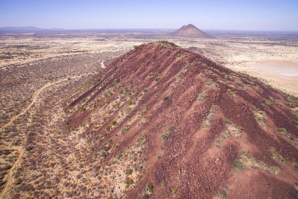 Erindi'nin kırmızı tepeleri