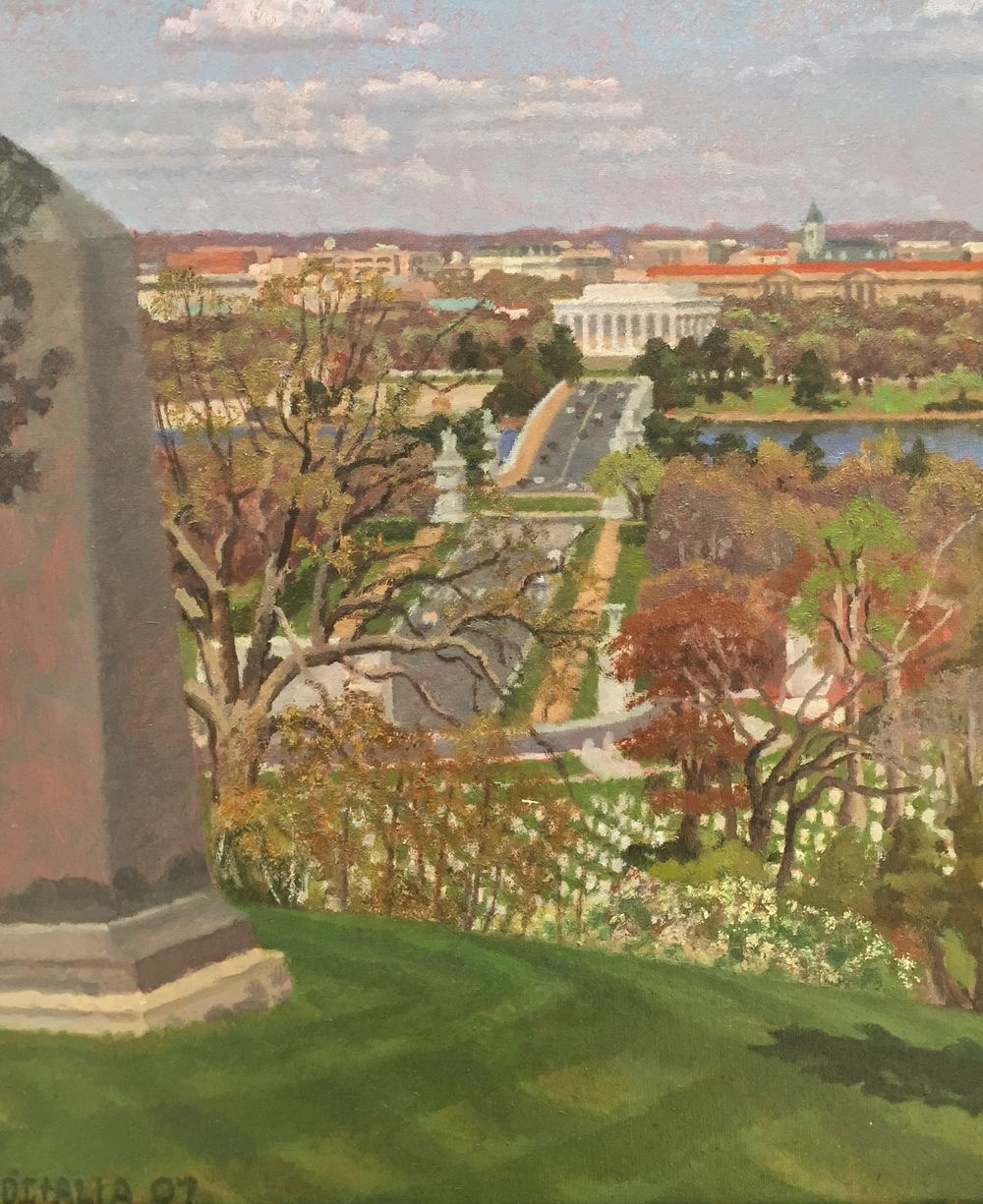 Obelisk and Entrance to Arlington April.JPG