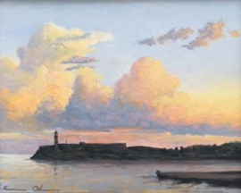 From our Balcony Harbor Entrance oil on panel 11x14.JPG