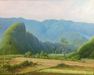Vinales Valley, Cuba oil on canvas 24x30.JPG