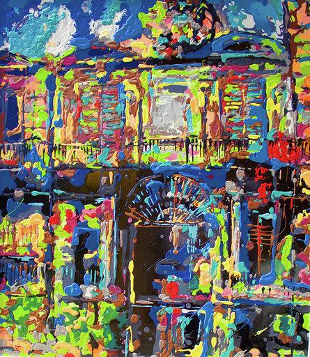 Beautiful Decadence #2  enamel, varnish on metal panel  32 x 28