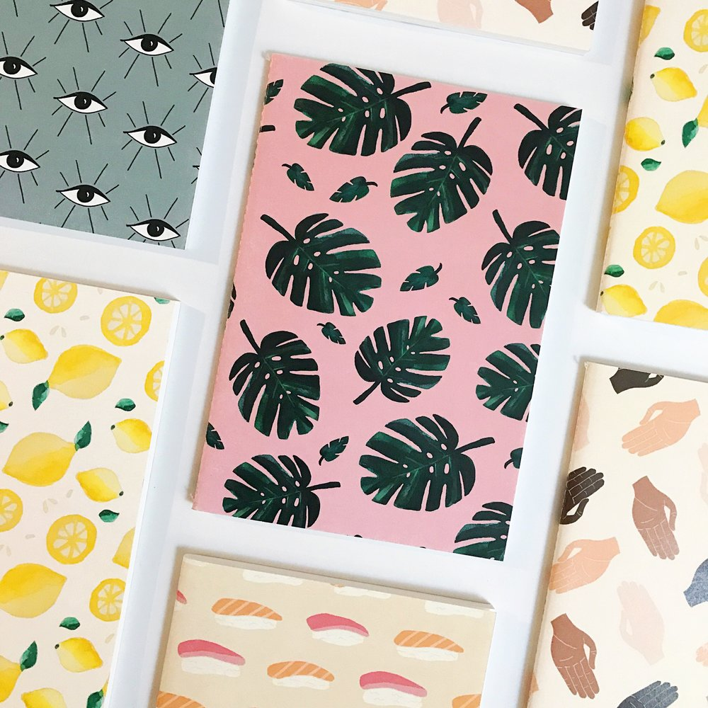 PATTERNED NOTEBOOKS (SET OF 5) Sold Out
