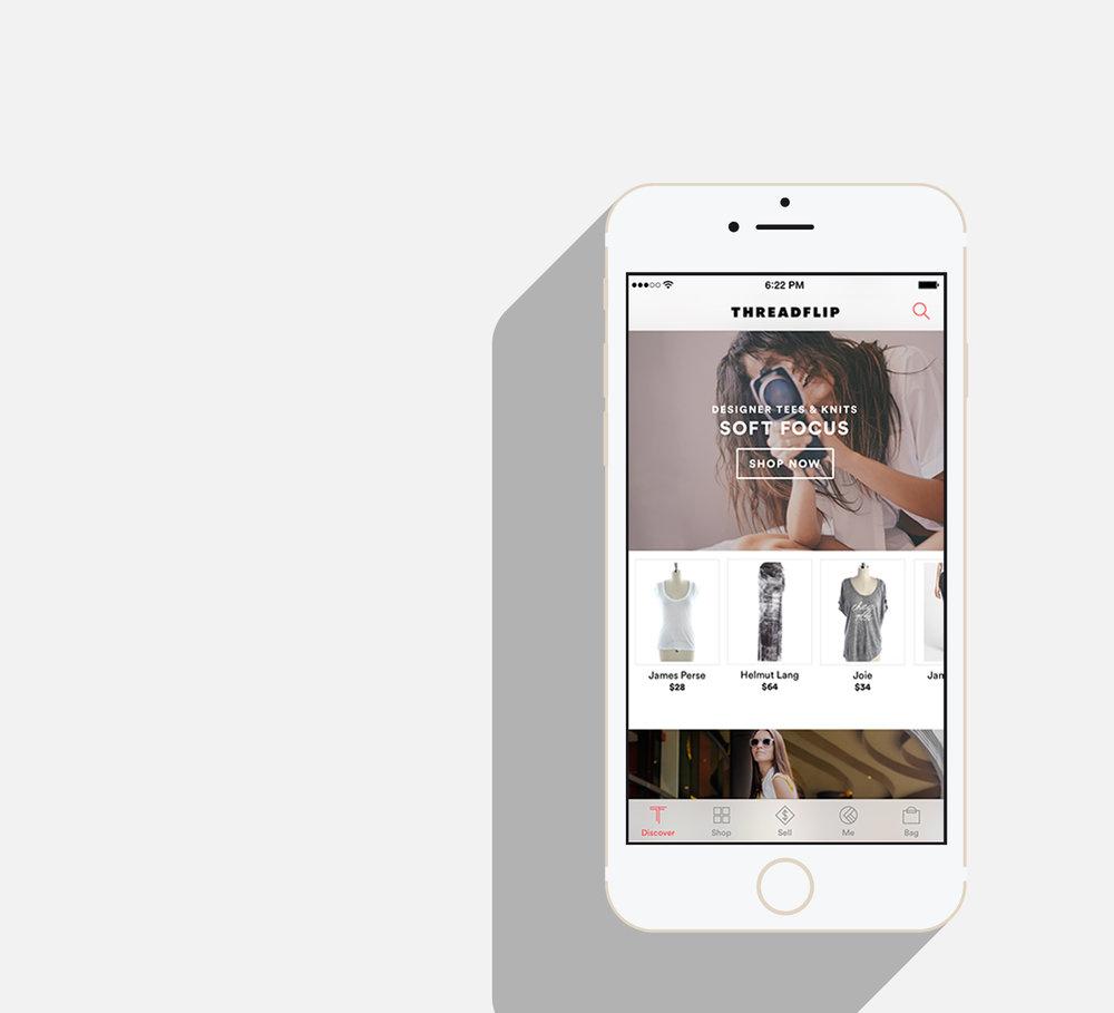 iOS app home feed