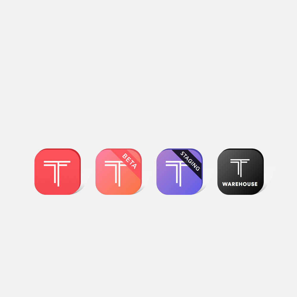 App icons and TF mark design