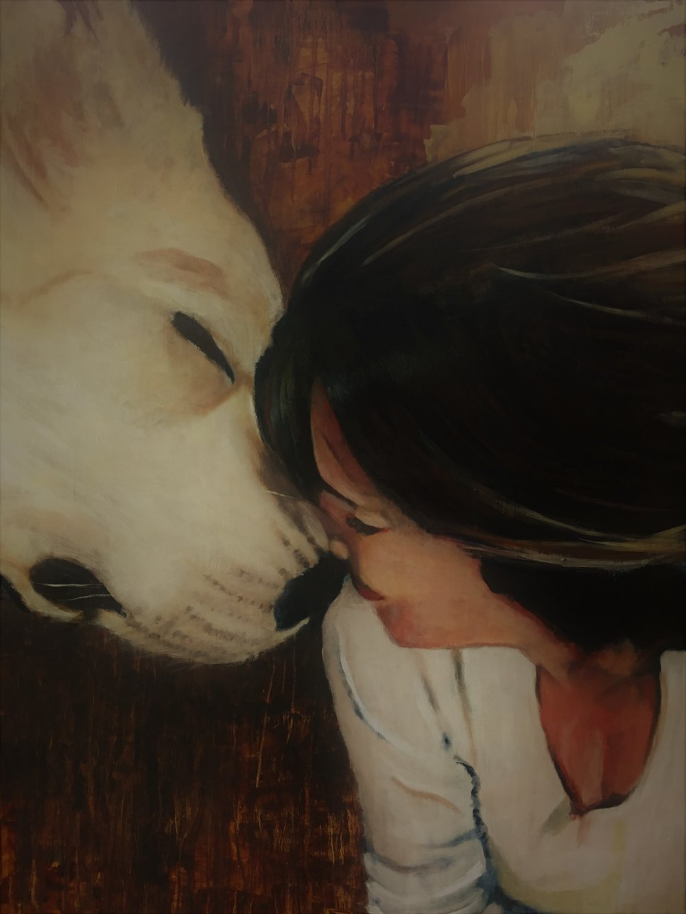 Lauren and Carl 36x48 Oil On Wood Commissioned for Private Collection