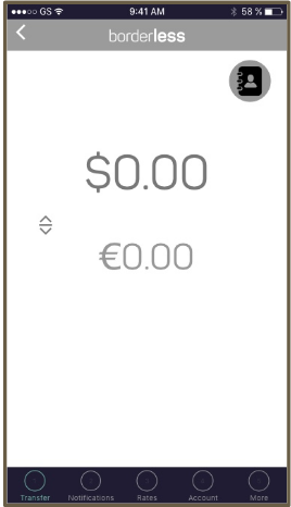 Currency conversion medium wireframe