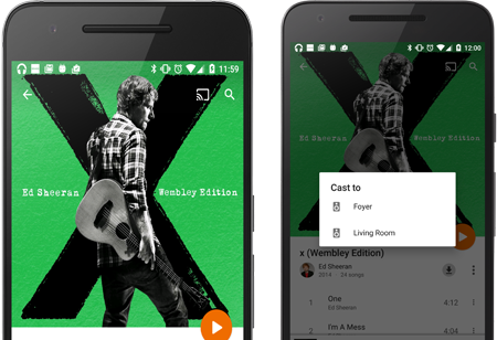 Google Play Direct Play to Sonos