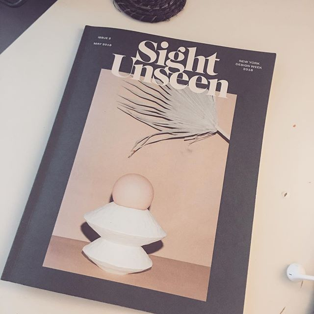 Loving the magazine from @_sightunseen_ for New York Design Week 🙌🏻🙌🏻