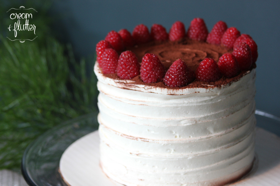 Mocha White Chocolate Raspberry Cake