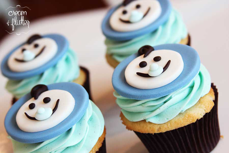 Baby Shower Character Cupcakes