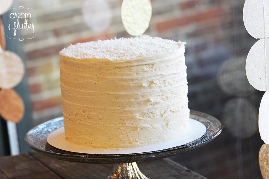 Signature Vanilla Cut Cake