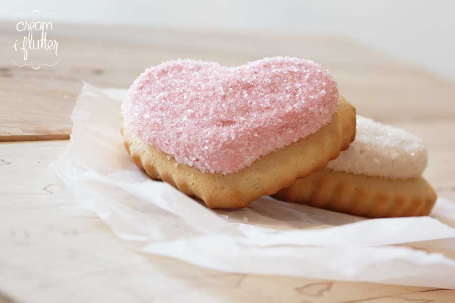 Vanilla Frosted Sugar Cookies, Valentine's Hearts