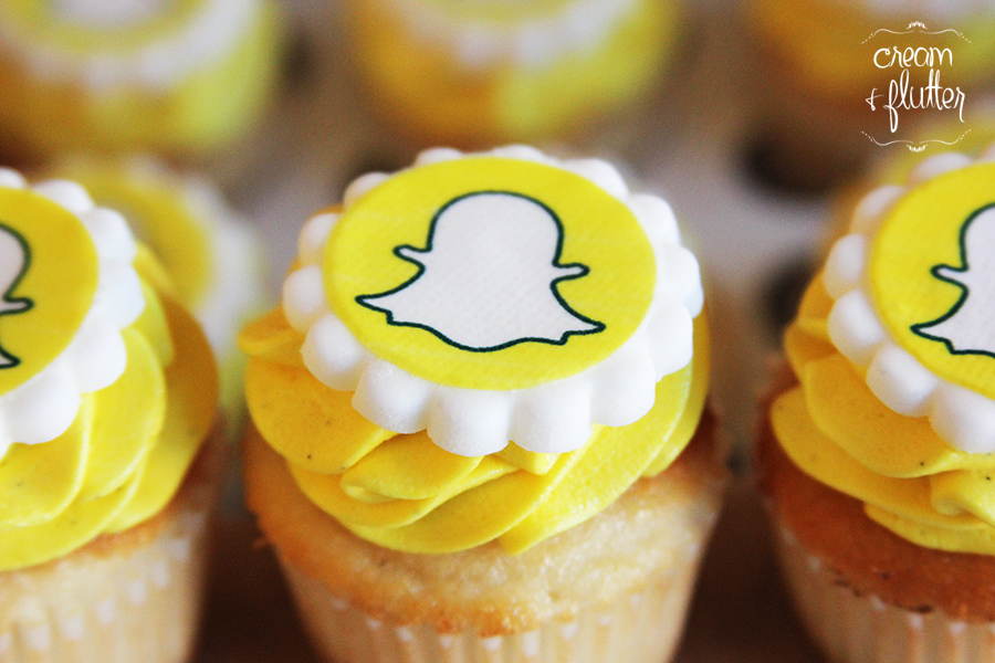 Edible Logo Mini Cupcakes for Snapchat