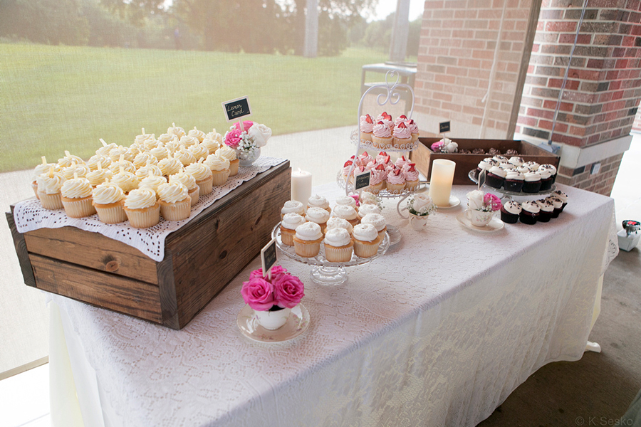 Lemon Curd Cupcake Display