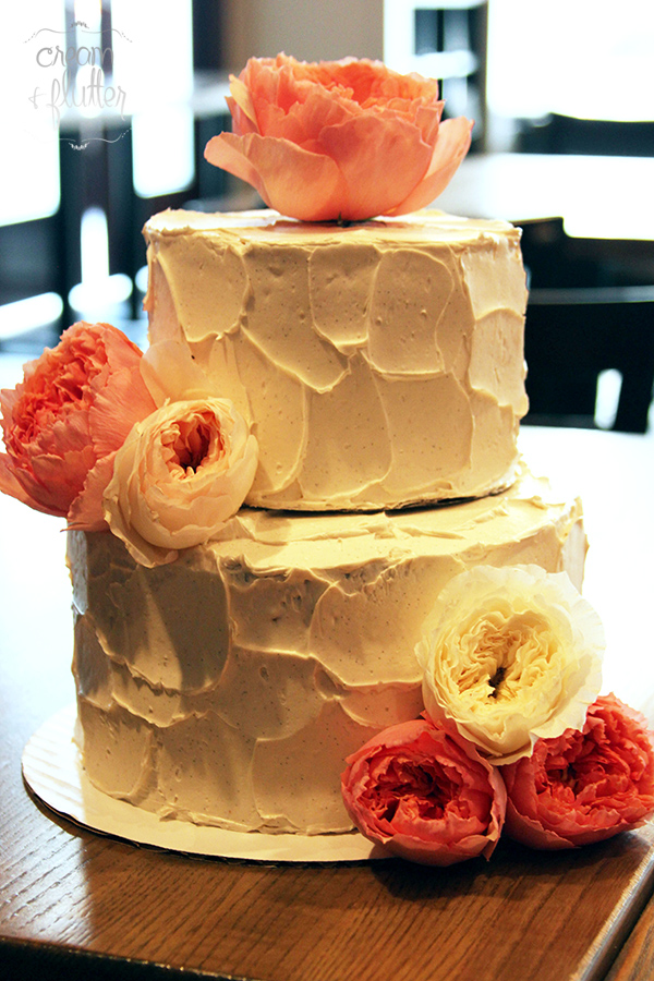 Tiered Cake with Custom Buttercream Frosting