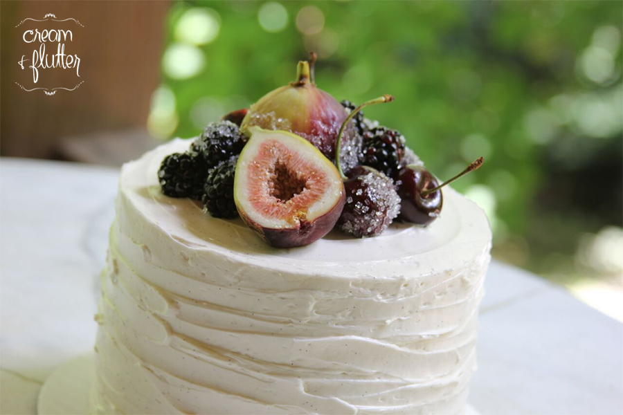 Natural Cake with Fruit and Figs