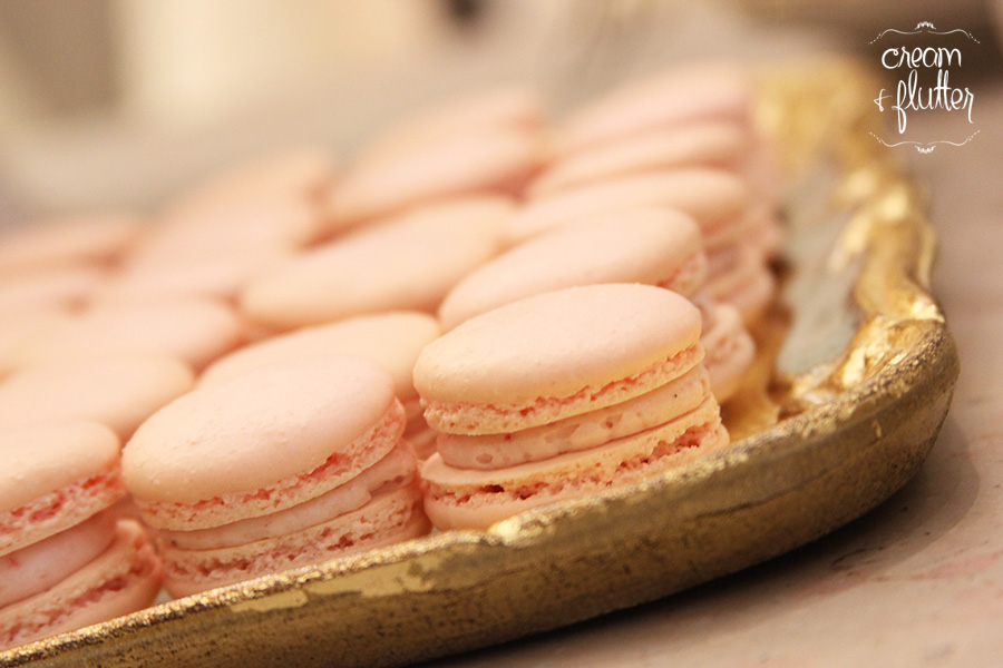 Mini Strawberry Macarons