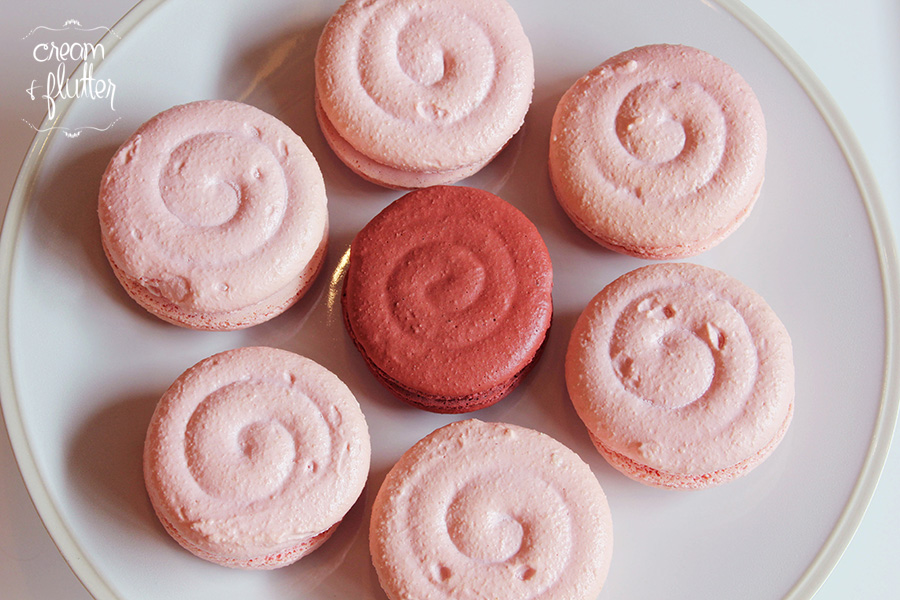 A Plate of Pinwheel Macarons