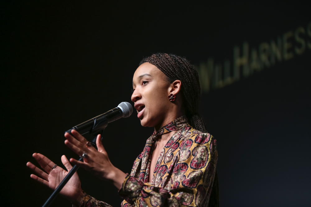 Zariya Allen performs  Somewhere in America