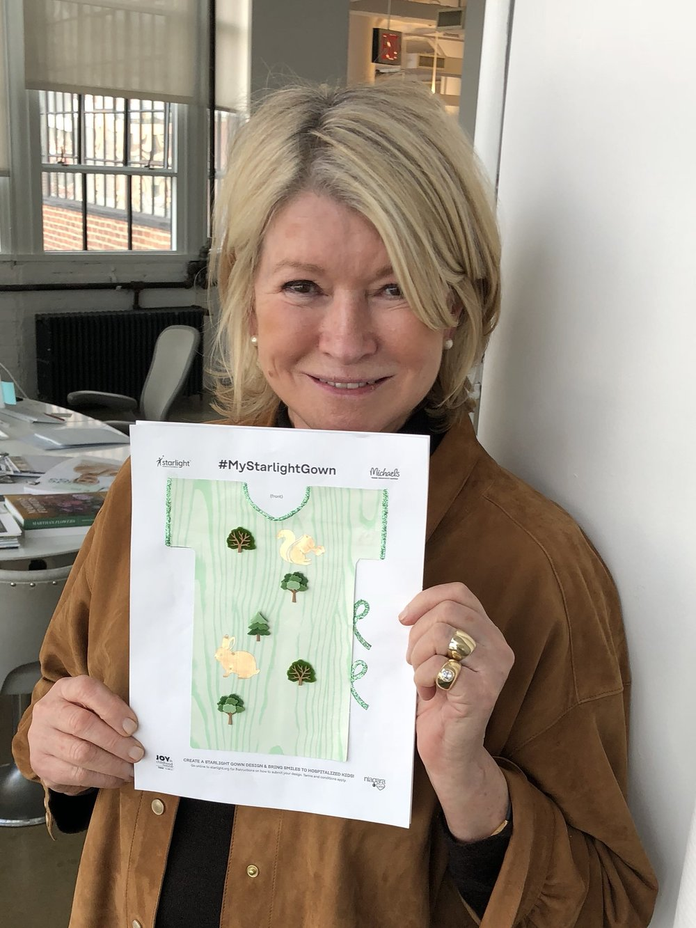 Martha Stewart and her Starlight Gown design.