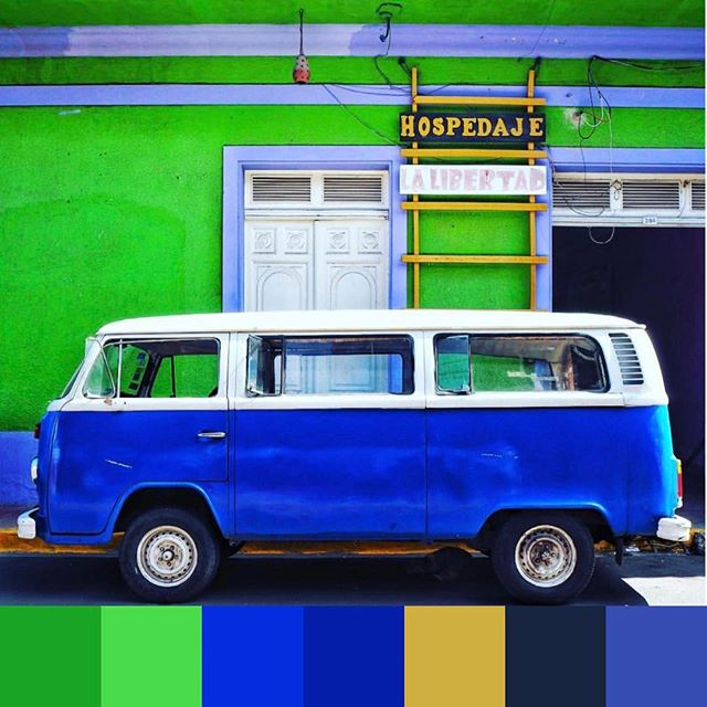 An #instagood #stpatricksday palette of #cobalt and green. 📷 @taylor_fuller | #foundpalettes 🍀💙🍀