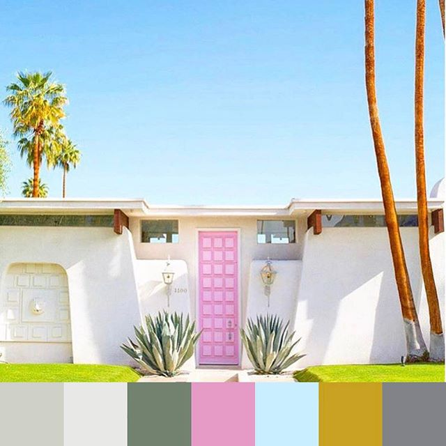 We're warming up for #Coachella with this #epic #palmsprings #colorpalette. 📷 @lovelyindeed @sophlog | #foundpalettes