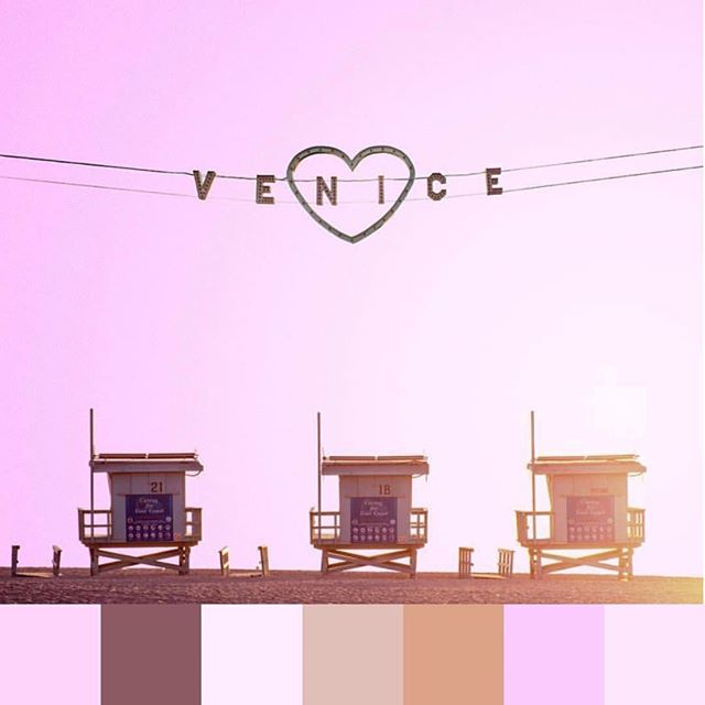 Sunshine #hues from #venicebeach #california. 📷 @jacpack_ | #foundpalettes #simplethings
