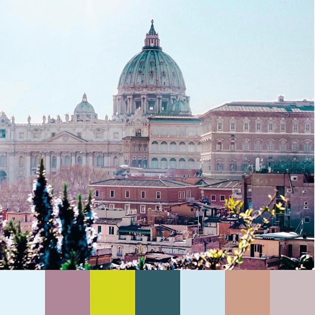 Were #daydreaming in #Rome #hues today. Wanna join us? 👆Tap the link in our bio to create your own #daydream color palette. Tag us and we will feature you on #foundpalettes. 📷 @ninanatividad