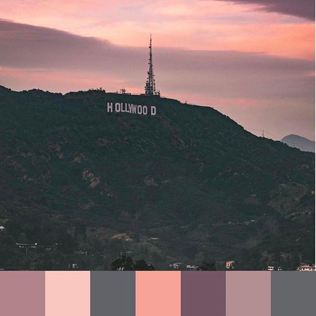 #LA #sunset color 💯. 📷 @dannydemarcos @ig_color | #foundpalettes