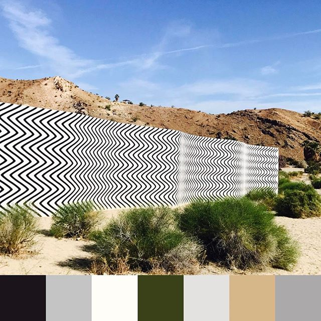 Desert color #vibes at #desertx in #palmsprings ▪️▫️🌵| 📷 @jamgal2010 #foundpalettes