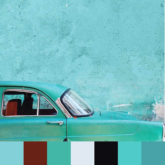 Beautiful #turquoise #hues from #havana. 📷 @lucylaucht | #foundpalettes