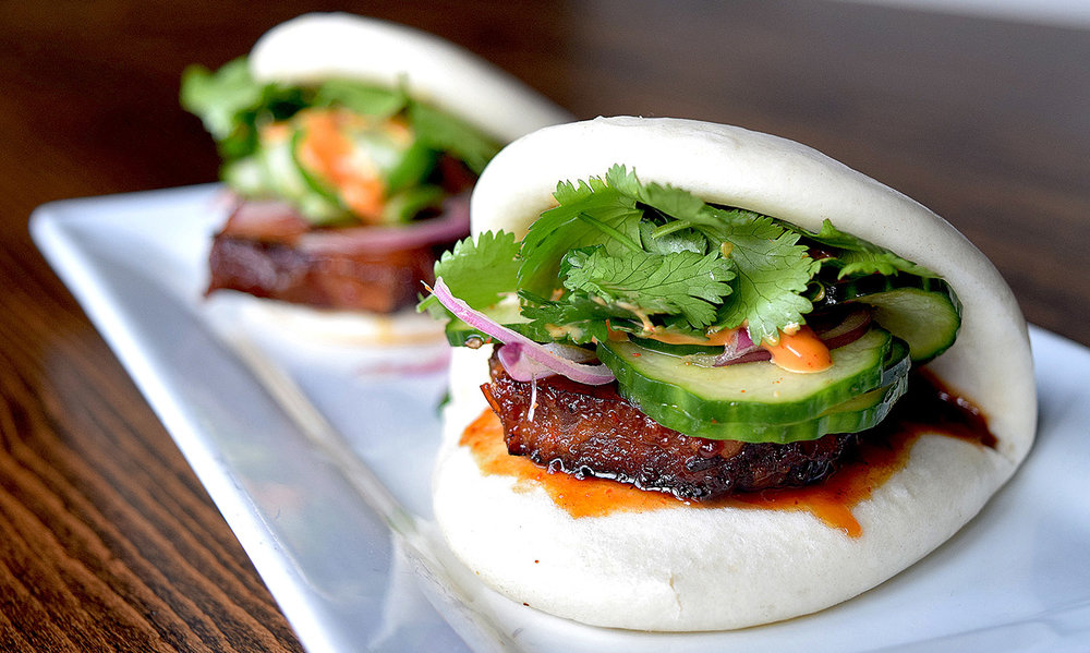 Spring Menu - ALL NEW items on the fresh sheetChef has developed new items for spring like Soy Braised Pork Belly Bao Buns, Korean Fried Chicken, Grilled Shrimp Pad Thai and Pork Canitas Tacos!   We'll also be featuring the Impossible Burger, which is made from material derived from plants but tastes similar to beef. Learn more about the Impossible Burger