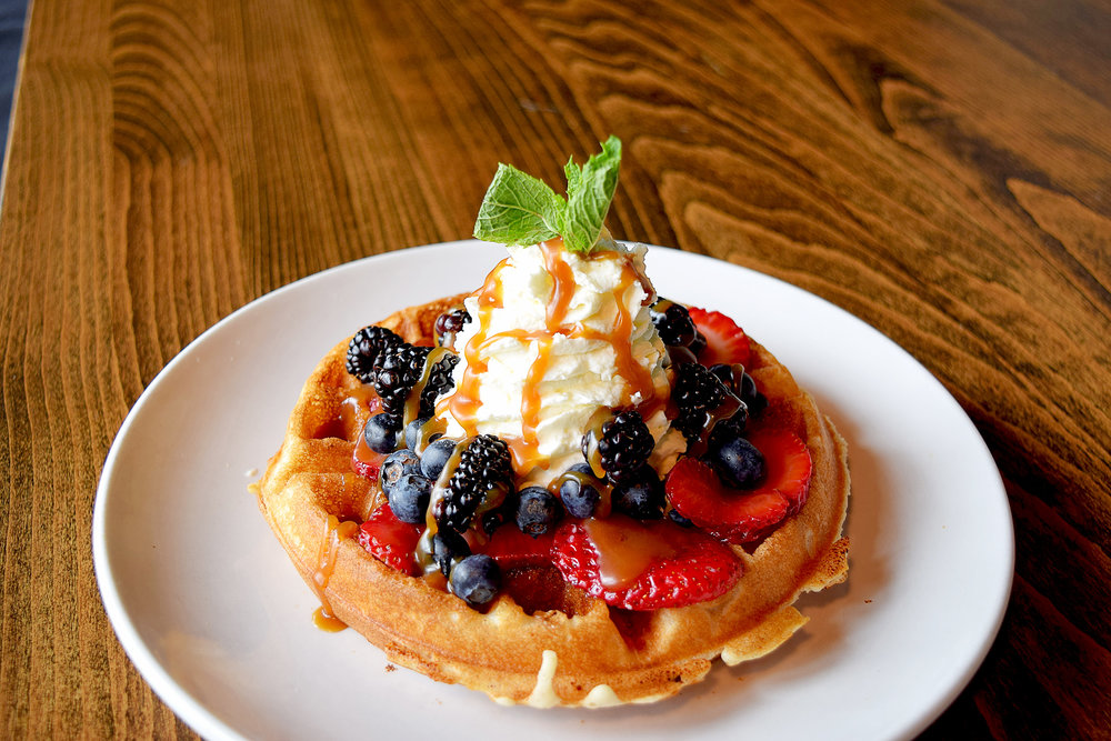 New Brunch at select locations. - 5 new brunch items and cocktailsWe just introduced 4 new brunch items at both Denver locations, Music Factory, Tanasbourne and Grand Central! The new items include Avocado Toast, Green Yogurt & Chia Seed Breakfast Bowl, Spicy Fried Chicken & Waffles, Grilled Salmon Cake Benedict and a Fresh Berry Waffle.See a sample of our new menu