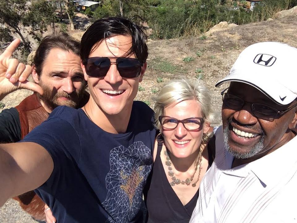 "Road Trip with Tribe to meet with more Tribe in Ojai, August 2015 --  Jonathan Talat Phillips , slated to assist with shenanigans and promotions,  Christopher Hodson , will be assisting the Sacred Justice Network and Hollywood Veteran Actor, Albert Hall of  New World Media  -- a new non-profit ""High Vibe Hollywood"" production company, readying to begin production on first feature film projects."
