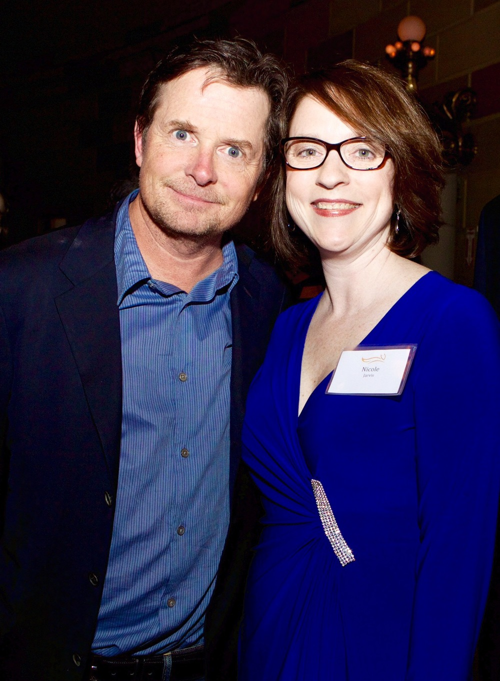 Nicole Jarvis and Michael J. Fox in 2015.