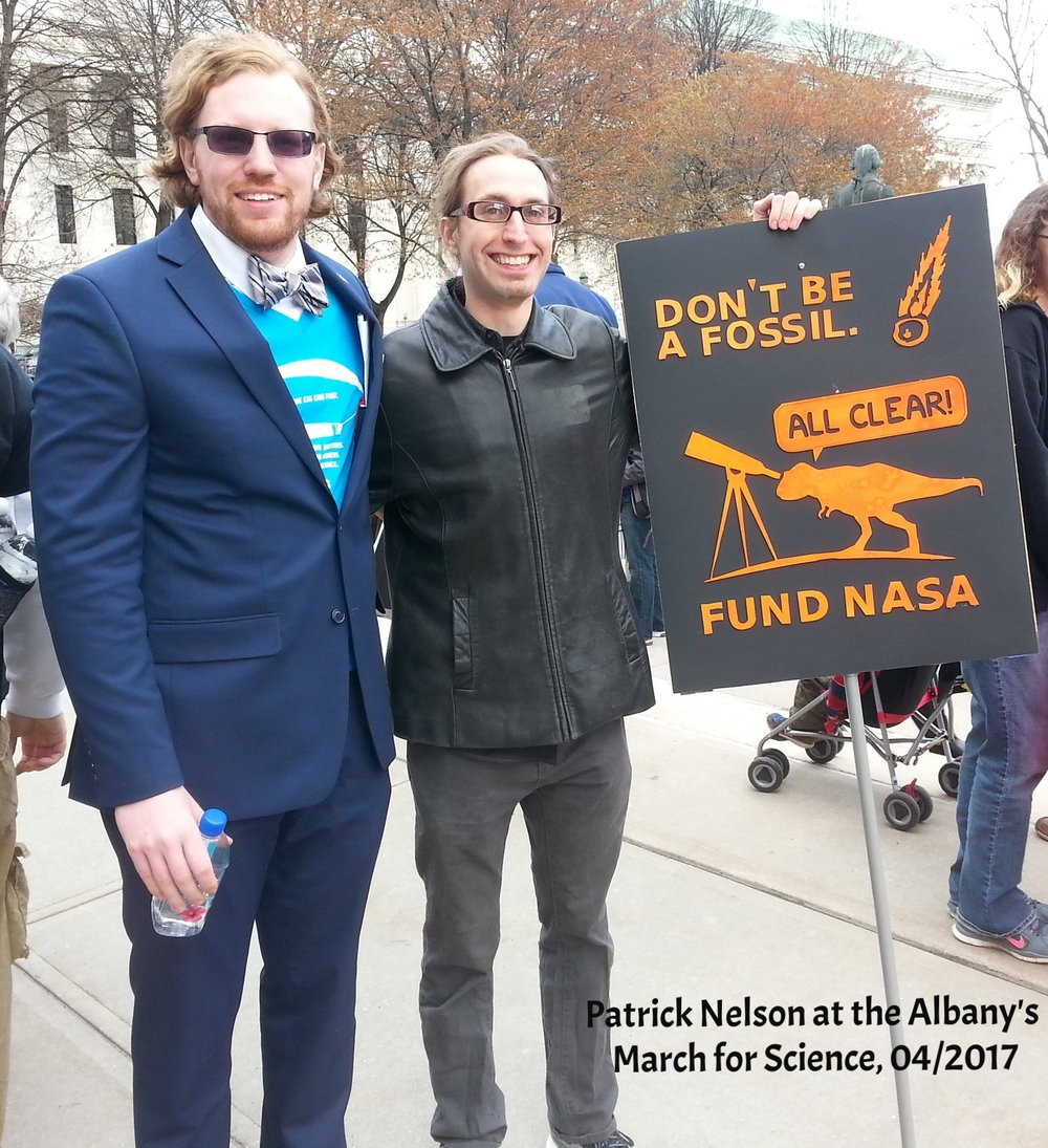 Patrick Nelson at the Albany's March for Science, 04/2017