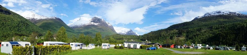 Campsite in Loen.
