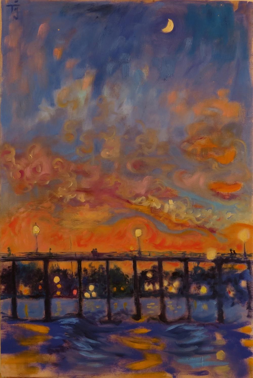 SB pier after sunset 2