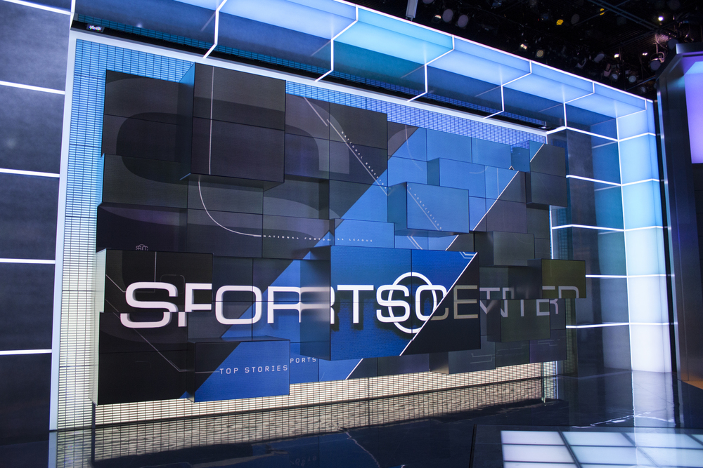 ESPN Sportcenter.  Fully Energy Efficient LED Studio, 2014  -   Visit Portfolio