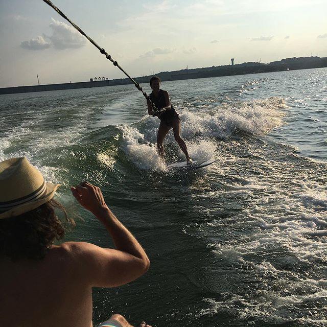 Not a terrible Saturday. I wake surfed! #iheartaustin #summer