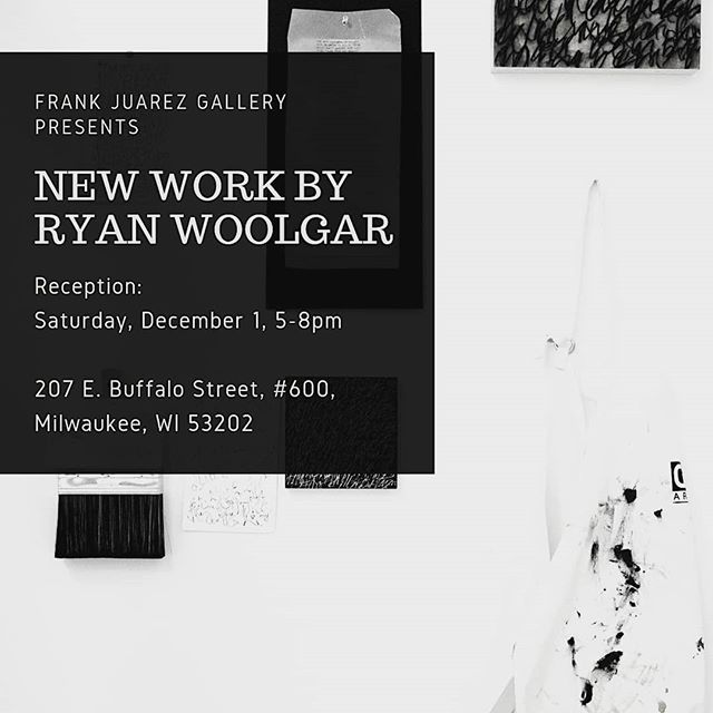 Join us this Saturday night at the @frankjuarezgallery!  All pieces in the show have been created over the last five weeks at the gallery.  The following weekend, December 8th from 2-3pm will be an artist talk.  Hope to see you there.