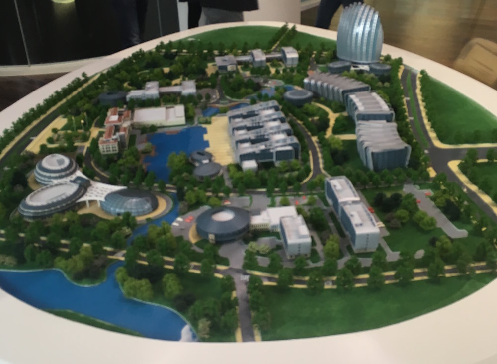 Model of the campus where the OUC is located.