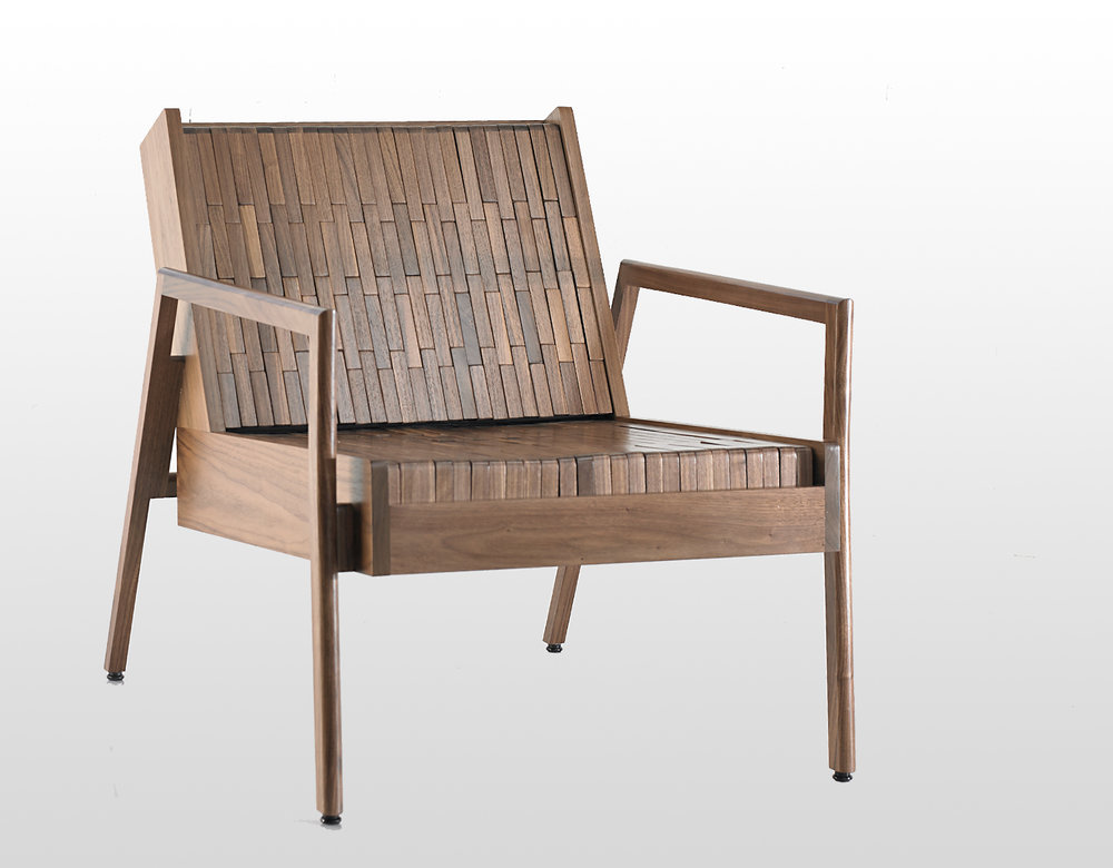 BLOCK CHAIR ARMED
