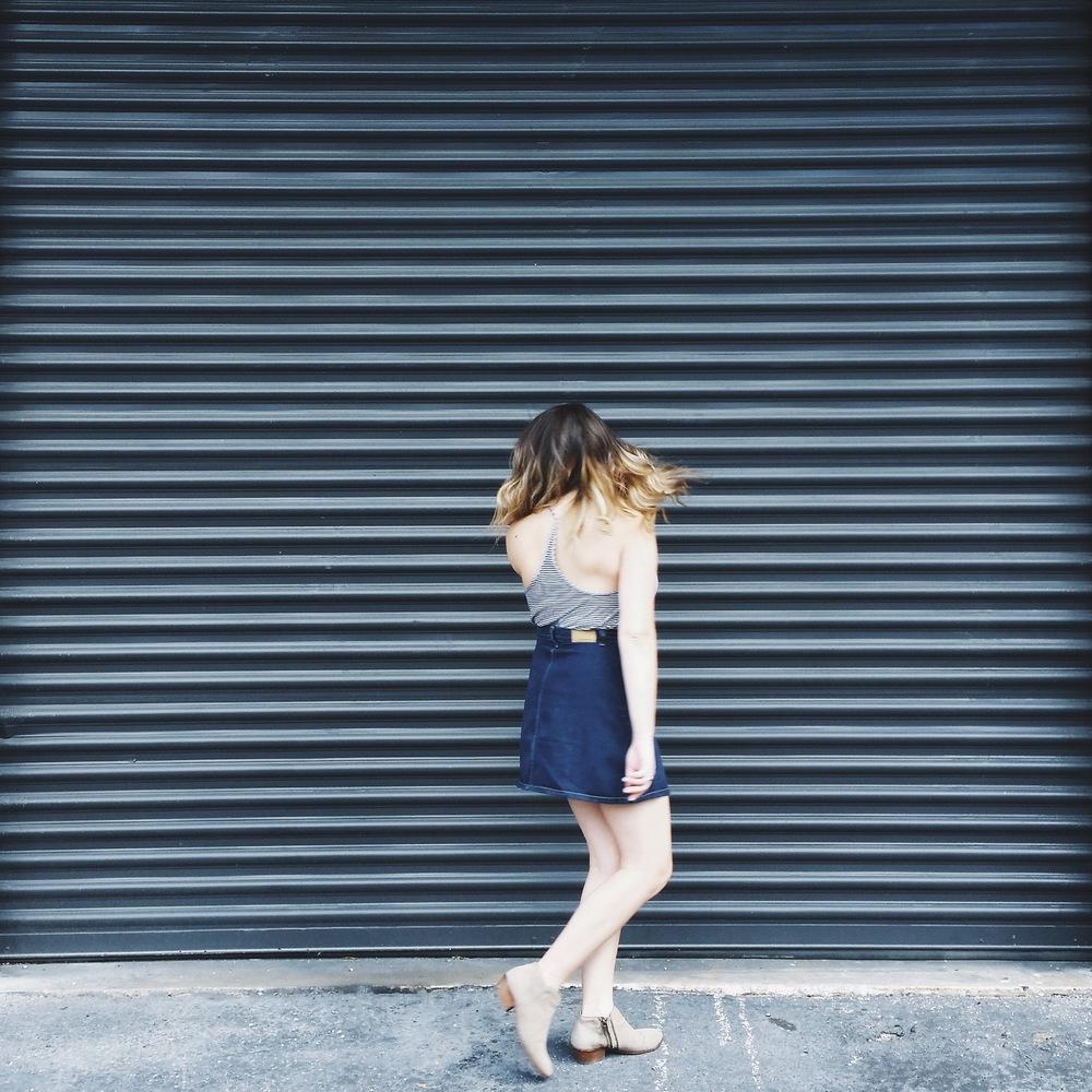 chicwish skirt via @rosetoroses